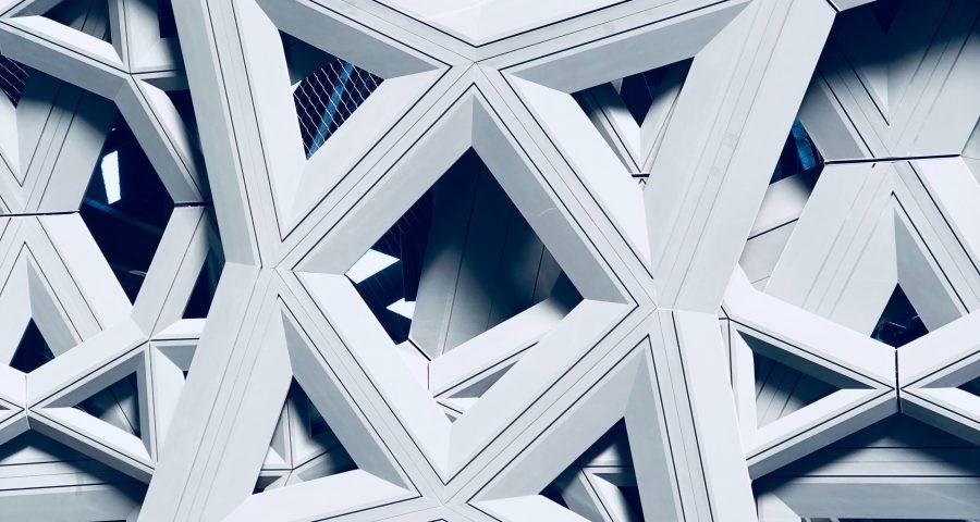 Muster weiß Zukunft