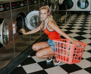 Junge Dame Wäsche