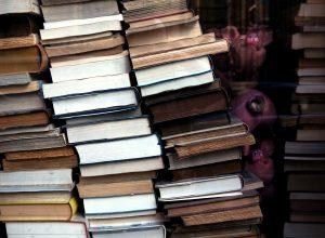 Schaufenster alte Bücher