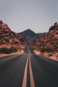 Straße zum Ziel