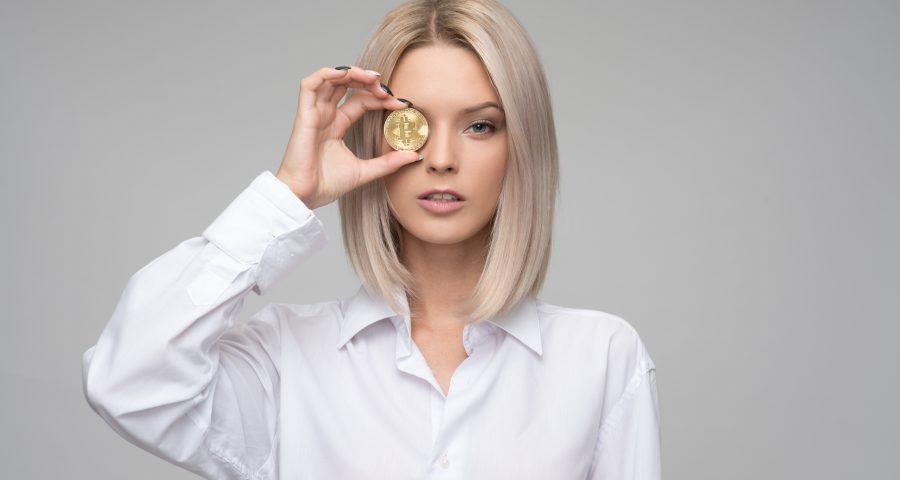 woman bitcoin