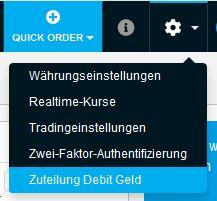 Zuteilung Debit Geld DEGIRO Wertpapierkredit