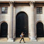 Gebäude weiß Person