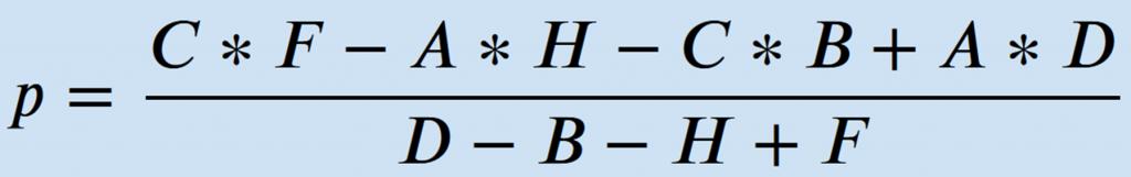 Formel Gleichgewichtspreis aus Tabelle