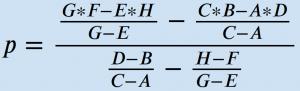 Formel Gleichgewichtspreis aus zwei Punkten