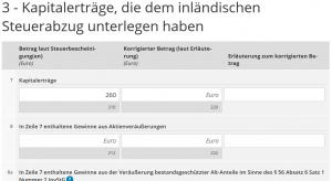 3- Kapitalerträge, die dem inländischen Steuerabzug unterlegen haben