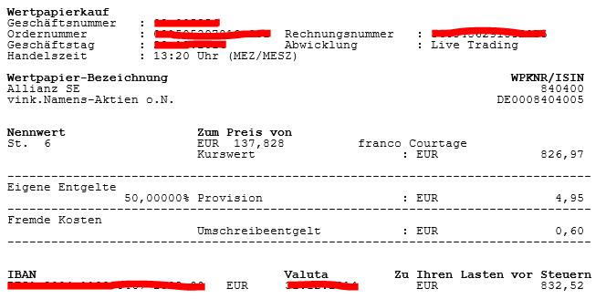 Allianz Wertpapierkauf