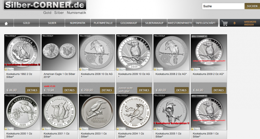 Edelmetalle als Sammlermünzen