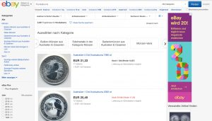 Edelmetalle auf eBay