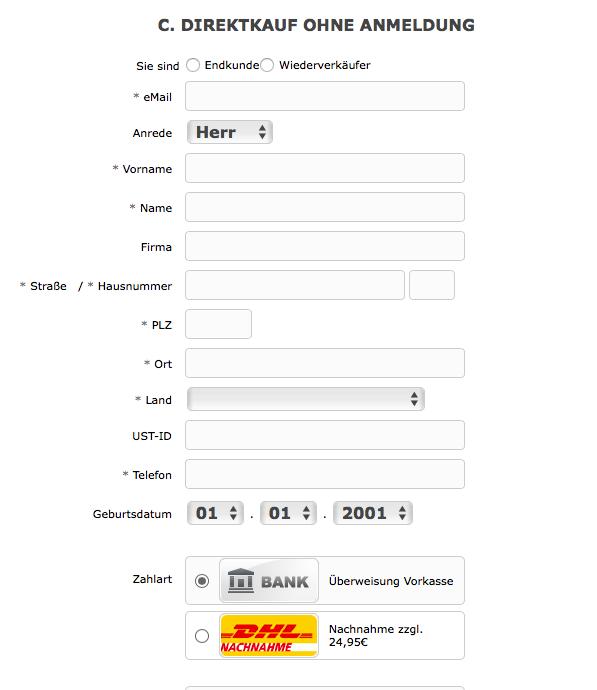 Direktkauf ohne Anmeldung bei Anlagegold24.de