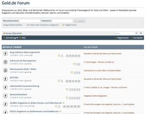 Forum auf Gold.de