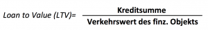 Loan to Value (LTV) Formel