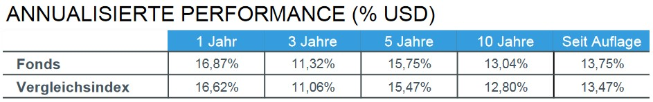 Annualisierte Performance iShares Core S&P 500 ETF