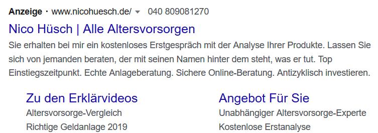 Nico Hüsch GoogleAds Werbung
