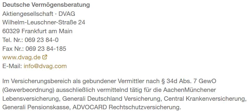 DVAG – Gebundener Vermittler für AachenMünchener, Generali und Co.