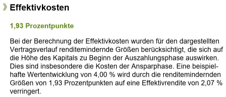 Effektivkosten Allianz RiesterRente InvestFlex von der Swiss Life Select