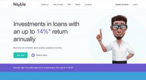 Nibble Finance Homepage ScreenshotNibble Finance Homepage Screenshot