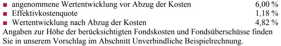 Alte Leipziger ALfonds – Fondsgebundene Rente (FR10) Effektivkosten (43 Jahre)