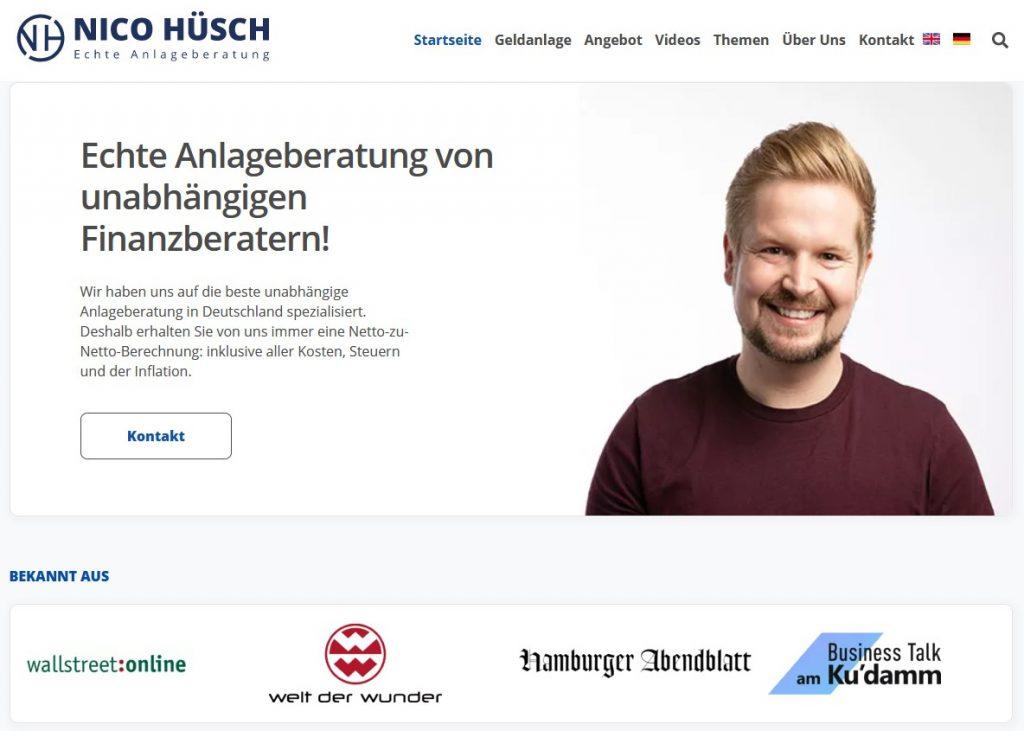 Nico Hüsch GmbH Website 2021