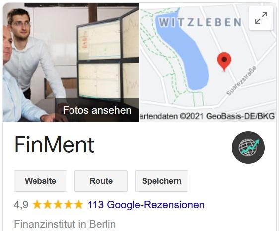 Google-Bewertung von Finment