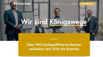 Königswege Unternehmen Website