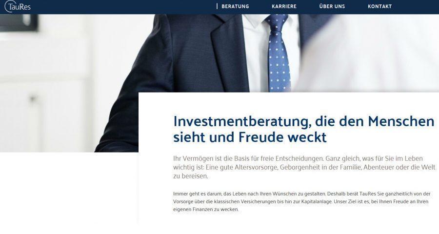 TauRes Website Startseite