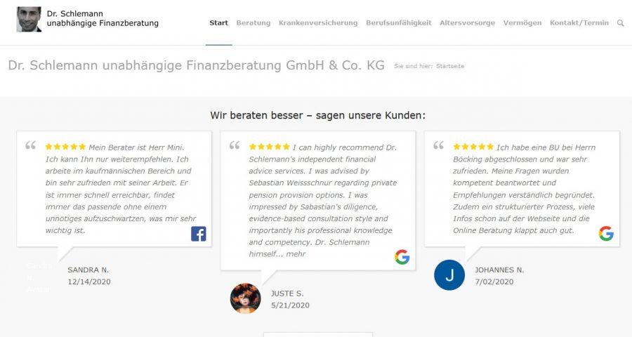 Dr. Schlemann Website
