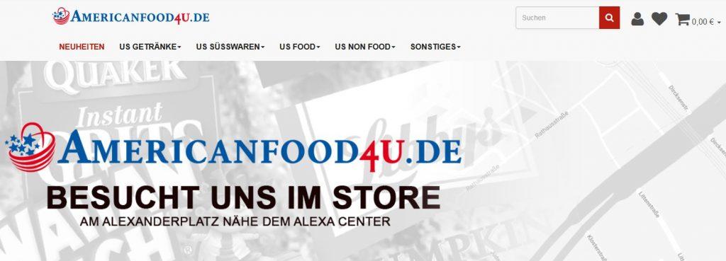 Americanfood4you Website