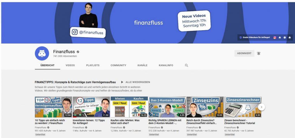Finanzfluss auf Youtube