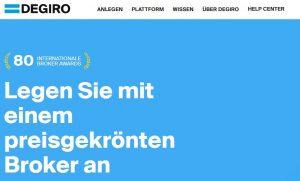 Degiro Website 2021